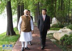 习近平同印度总理莫迪在武汉举行非正式会晤